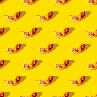 シームレスなパターン。バナナ。 tシャツ、グリーティングカード、包装紙、ポスター、布地のプリントに使用します。