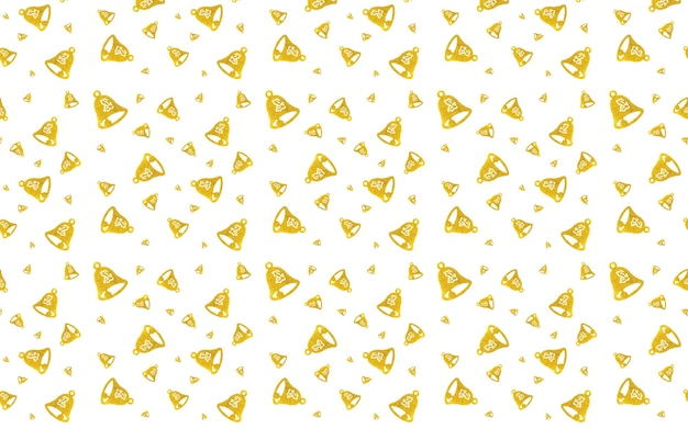 Seamless pattern of bells on white background