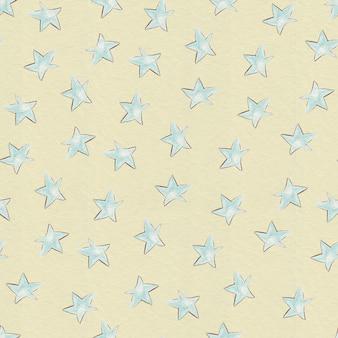 원활한 패턴 만화 여러 별입니다. 디지털 인쇄.