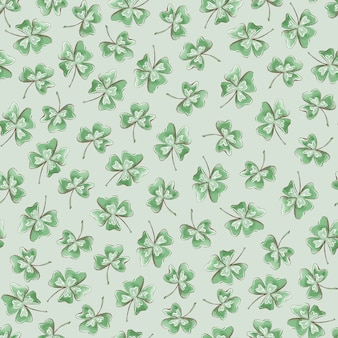 완벽 한 패턴입니다. 성 패트릭의 날을 위한 클로버 꽃.