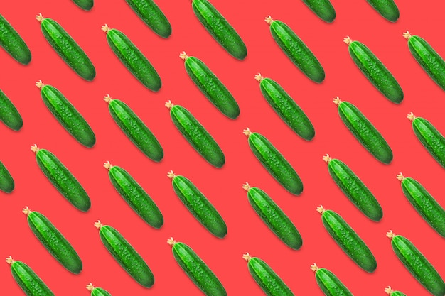 Seamless pattern of cucumbers