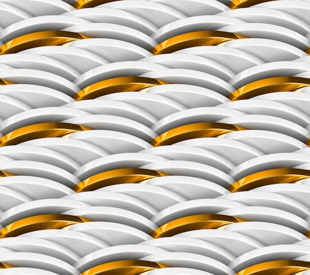 Бесшовный фон из цепных настенных белых монет и золотых монет.