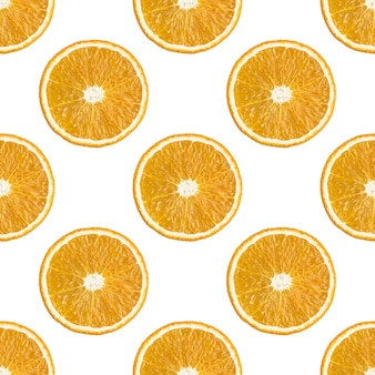 Seamless pattern of oranges fruit