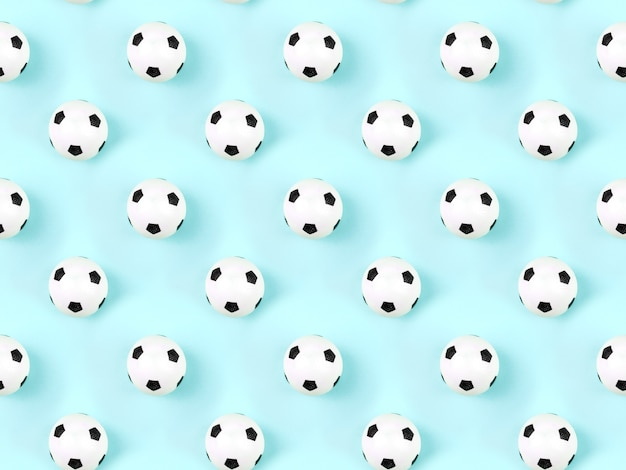 Seamless pattern of small white red ball for baseball sport game on blue background.