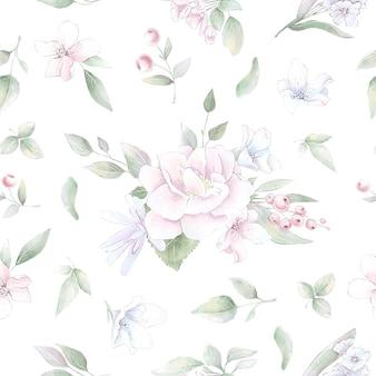 Бесшовные модели. весенние нежные цветы розы. цифровая печать.