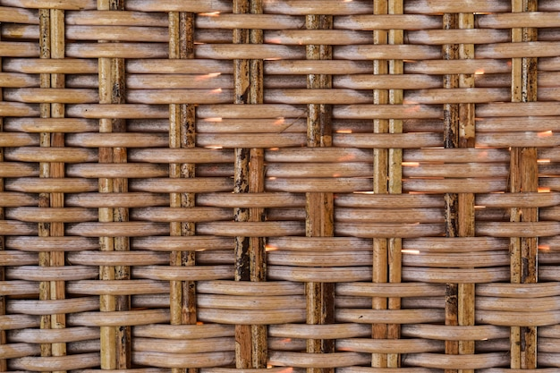 Seamless pattern texture of woven rattan. textured of the rattan basket.