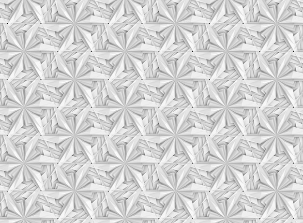 Seamless pattern a three dimensional grid of three dimensional hexagonal gray and white elements
