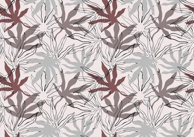 추상 잎으로 완벽 한 패턴