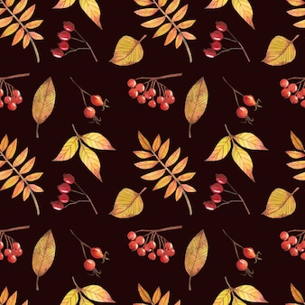 Seamless pattern with autumn leaves, for decoration of autumn design and for scrapbooking.