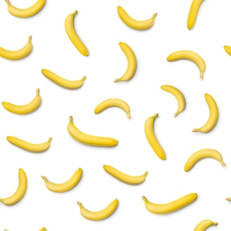 Seamless pattern with banana. abstract white background