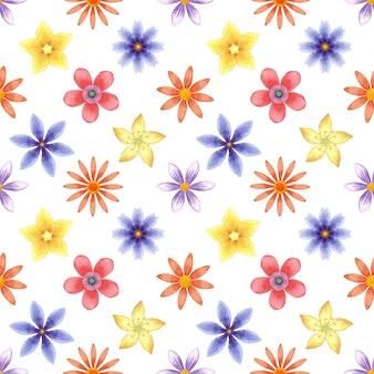花が咲くシームレスなパターン