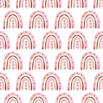 색상에서 boho 무지개와 함께 완벽 한 패턴입니다. 수채화 손으로 그린 그림