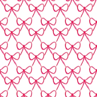 Seamless pattern with bow. fashion bow in watercolor style