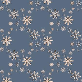 겨울과 크리스마스 디자인 눈송이와 완벽 한 패턴