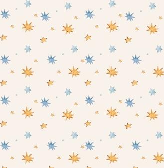 布包装紙の星とのシームレスなパターン