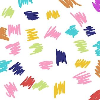 ピンク、紫、黄色、青の水彩画の形とシームレスなパターン