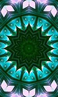 원활한 분홍색 녹색 꽃 만화경 모자이크 패턴 배경입니다. 세로 이미지.