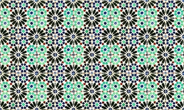 Seamless portugal or spain azulejo tile background. high resolution.