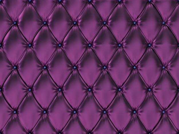 Seamless purple leather upholstery pattern, 3d illustration