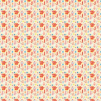 Seamless raster watercolor pattern of christmas and new year symbols elements and items of the