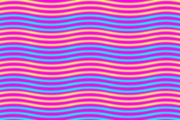 직물 인쇄 및 포장을 위한 착시 패턴의 원활한 빨강 및 파랑 파도