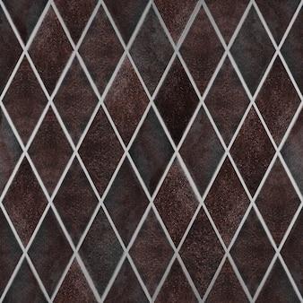 Бесшовные ржавого металла, текстура старых ржавых металлических обоев, форма ромба