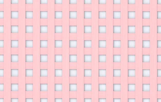 원활한 부드러운 톤 컬러 분홍색과 흰색 사각형 패턴 나무 패널 벽 배경.