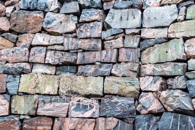 Seamless stone masonry rectangular granite rocks shades