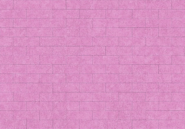 Seamless sweet pink purple color brick blocks wall background.