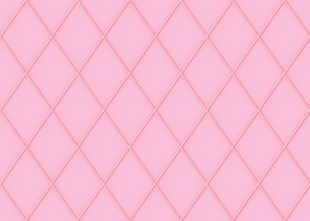 Seamless sweet soft pink color tone grid square art pattern wall background.