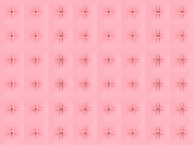 Seamless sweet soft pink square art pattern tile wall background.