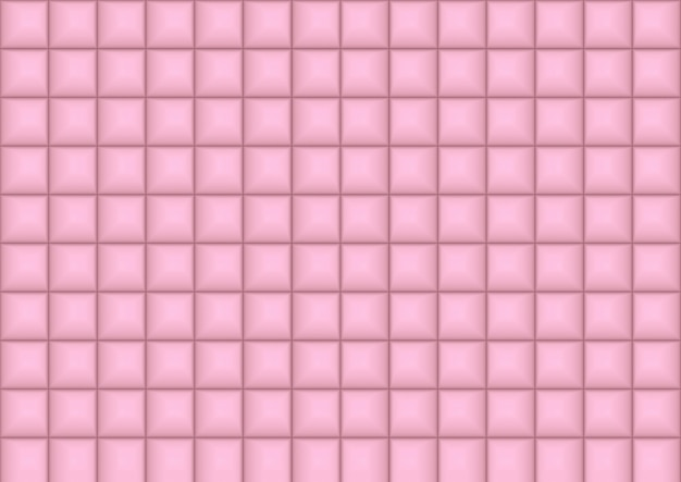 Seamless sweet soft pink square pattern tiles wall background.