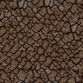 Бесшовная текстура потрескавшейся сухой земли