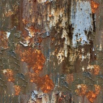 シームレスなテクスチャ。錆びた古い金属の質感。デザインのテンプレート
