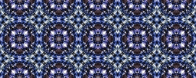 Seamless tie dye texture. violet floral pattern.