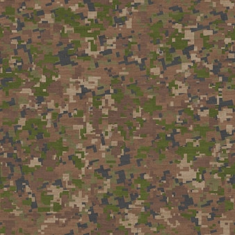 Seamless tileable texture of camouflage in traditional swampy green and beige