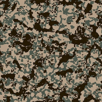 Seamless tileable texture of digital camouflage pattern
