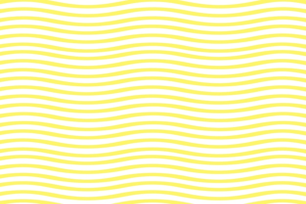 직물 인쇄 및 포장을 위한 착시 패턴의 매끄러운 흰색과 노란색 물결