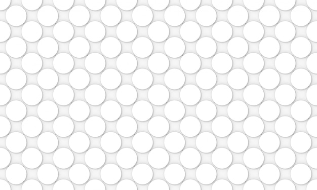 Seamless white convex round circular button shape pattern design wall
