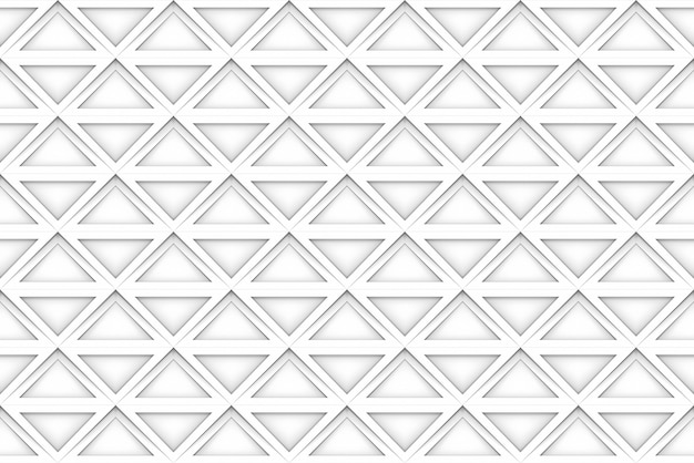 Seamless white square grid pattern art design wall background.
