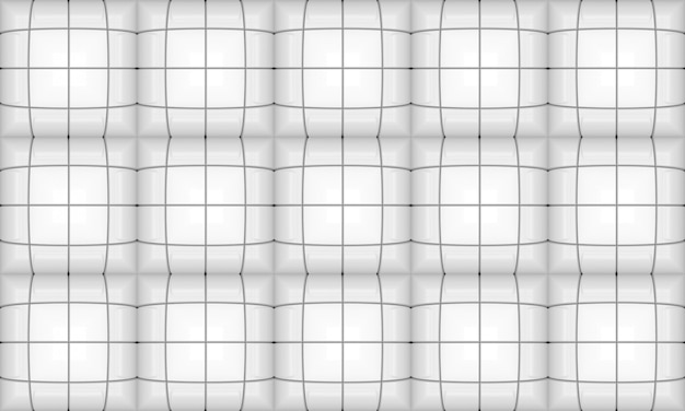 Seamless white square grid pattern background