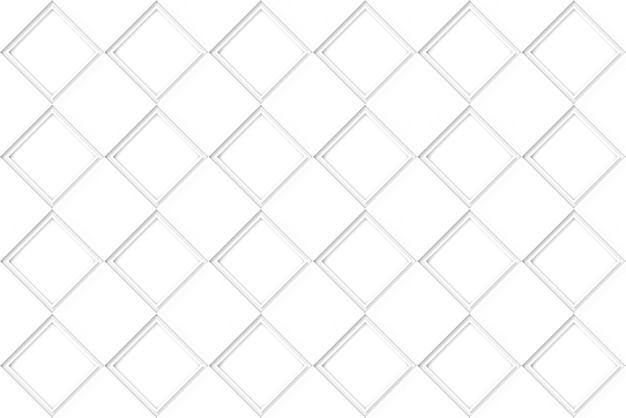 シームレスな白い正方形のグリッドパターンの背景。