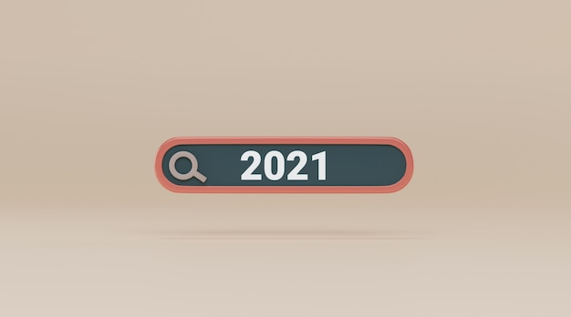 Search bar with 2021.