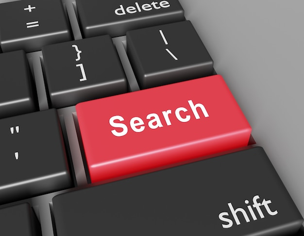 Search concept. word search you on button of computer keyboard