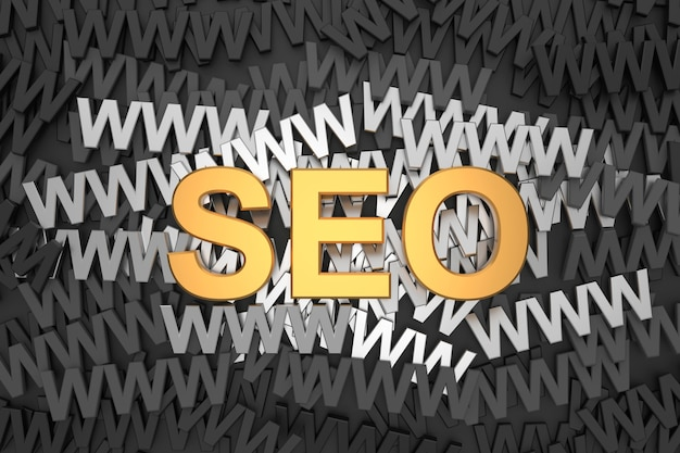 Search engine optimization (seo) in 3d rendering