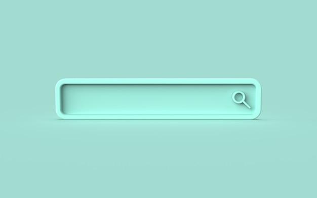 Значок поиска милая иллюстрация концепции 3d-рендеринга
