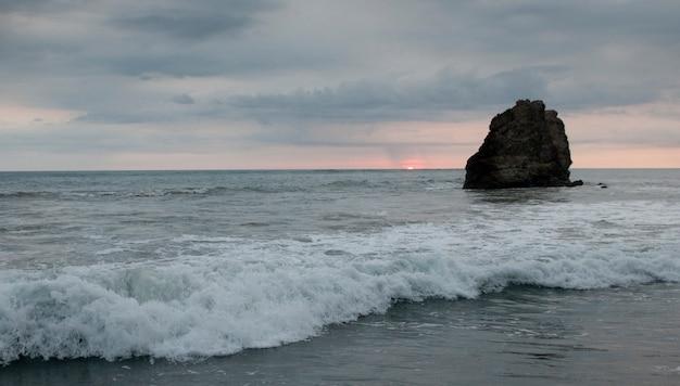 Seascape along mal pais coastline in san jose costa rica