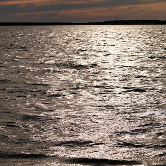 Seascape along shoreline at the hamptons, new york
