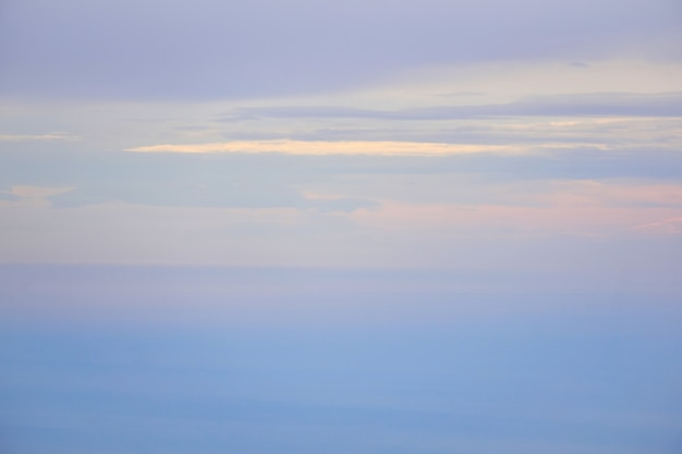 Seascape - the sea merges with the sky in the morning fog