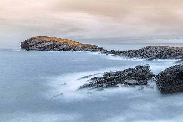 Seascape with silky water effect